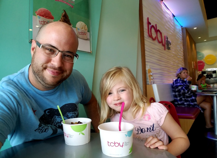 TCBY Trinity Regulars, Eric Libardi and daughter Chloe.